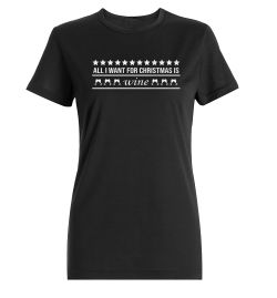 All i want for christmas is WINE Damen T-Shirt